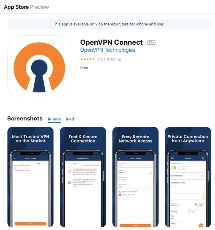 OpenVPN Connect App Store Preview